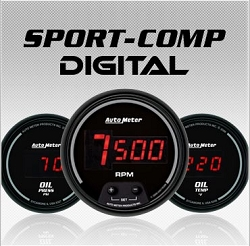 C-679SE Sport-Comp Digital (black full panel housing / black face-plate) Electric Speedometer