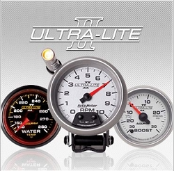 C-679SE Ultra-Lite II (black full panel housing / black face-plate) Electric Speedometer