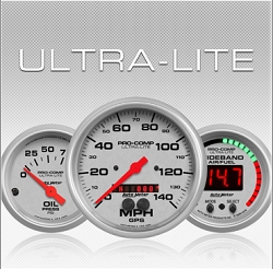 C-679SE Ultra-Lite (black full panel housing / black face-plate) Electric Speedometer