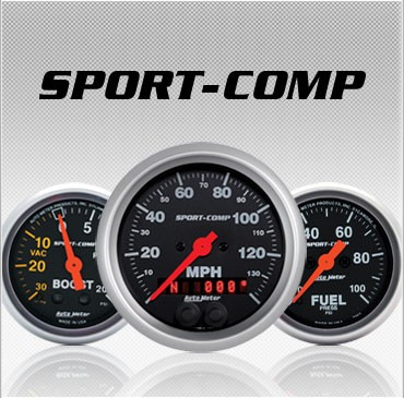 C-694SE Sport-Comp (black housing) Electric Speedometer