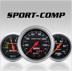 C-679SE Sport-Comp (black full panel housing / black faceplate) Electric Speedometer